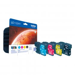 Brother LC-1100HY  Black, Cyan, magenta, yellow Multipack ( LC-1100HYVALBPDR )