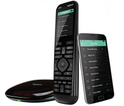 Logitech Harmony Elite remote control Audio,CABLE,DVR,Game console,Home cinema system,PC,Smartphone,TV,Tablet Touch screen/press buttons ( 915-000257 )