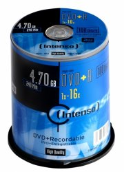 Intenso 4111156 blank DVD 4.7 GB DVD+R 100 pc(s) ( 4111156 )