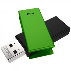 Emtec C350 Brick 2.0 USB flash drive 64 GB USB Type-A Black,Green ( ECMMD64GC352 )