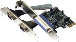 Dawicontrol DC-9112 PCIe interface cards/adapter Parallel,Serial Internal ( DC-9112 PCIE )