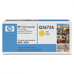 HP 309A Yellow Original LaserJet Toner Cartridge ( Q2672A )
