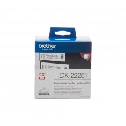 Brother DK-22251 label-making tape Black and red on white ( DK-22251 )