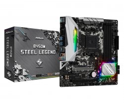 Asrock B450M Steel Legend Socket AM4 Micro ATX AMD B450 ( 90-MXB9Y0-A0UAYZ )