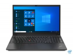 Lenovo ThinkPad E15 Notebook 39.6 cm (15.6) 1920 x 1080 pixels Intel Core i7-11xxx 16 GB DDR4-SDRAM 512 GB SSD NVIDIA GeForce MX450 Wi-Fi 6 (802.11ax) Windows 10 Pro Black ( 20TD002MGE )